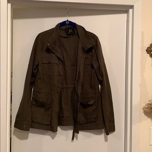 Military style olive green jacket